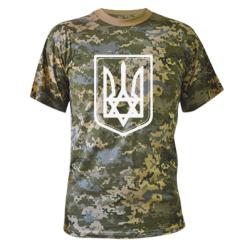 Купить Камуфляжная футболка Звезда Давида+герб