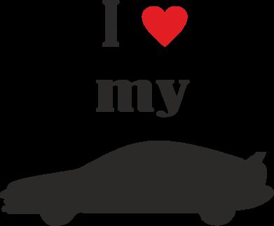 Купити Дитяча футболка I love my car