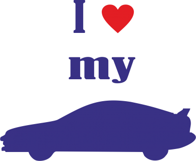 Купити Наклейка I love my car