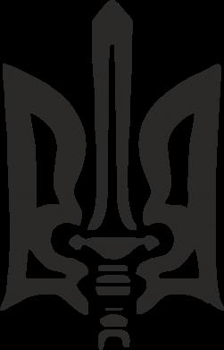 Купити Наклейка Герб з мечем