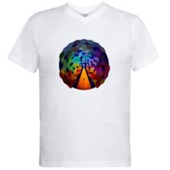 Чоловічі футболки з V-подібним вирізом Абстракция
