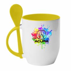 Кружка з керамічною ложкою Acura Art