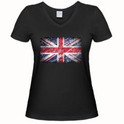 Жіноча футболка з V-подібним вирізом Англія