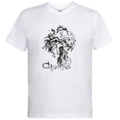 Купити Чоловічі футболки з V-подібним вирізом Aquarius (Водолій)