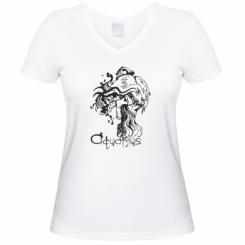 Купити Жіноча футболка з V-подібним вирізом Aquarius (Водолій)