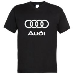 Купити Чоловічі футболки з V-подібним вирізом Audi