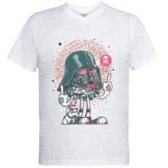 Чоловіча футболка з V-подібним вирізом Bad Vader