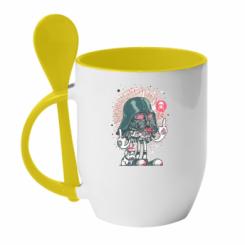 Кружка з керамічною ложкою Bad Vader