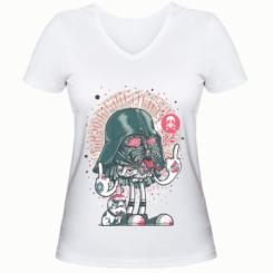Жіноча футболка з V-подібним вирізом Bad Vader