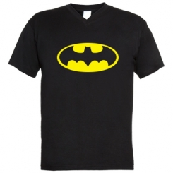 Чоловічі футболки з V-подібним вирізом Batman