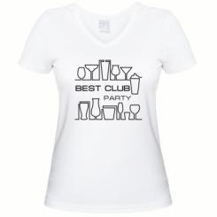 Купити Жіноча футболка з V-подібним вирізом Best Party Club