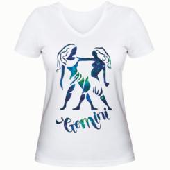 Жіноча футболка з V-подібним вирізом Близнюки зірки