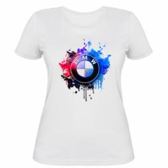 Жіноча футболка BMW logo art 2