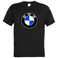 Купити Чоловічі футболки з V-подібним вирізом BMW