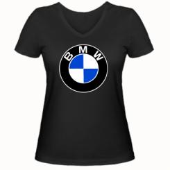 Купити Жіноча футболка з V-подібним вирізом BMW