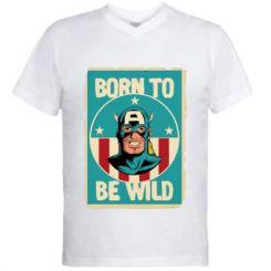 Чоловіча футболка з V-подібним вирізом Born to be Wild