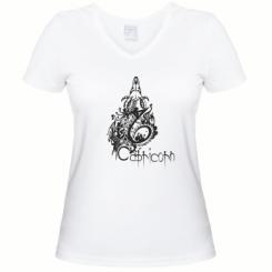 Купити Жіноча футболка з V-подібним вирізом Capricorn (Козеріг)