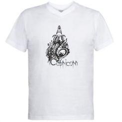 Купити Чоловічі футболки з V-подібним вирізом Capricorn (Козеріг)