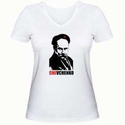 Купити Жіноча футболка з V-подібним вирізом CHEVCHENKO