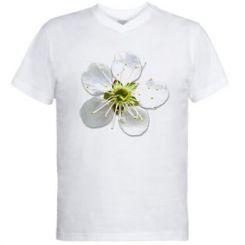 Чоловіча футболка з V-подібним вирізом Квіточка