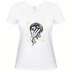 Купити Жіноча футболка з V-подібним вирізом Знаки зодіаку Діва