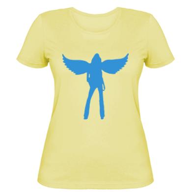 Жіноча футболка Дівчина-ангел