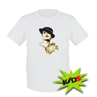 Купити Дитяча футболка Дівчина з віялом