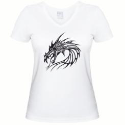 Купити Жіноча футболка з V-подібним вирізом Dragon