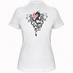 Купити Жіноча футболка поло Дракон