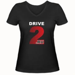 Купити Жіноча футболка з V-подібним вирізом Drive2.ru