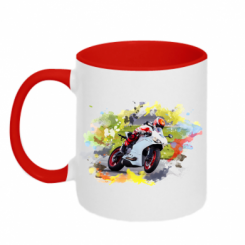 Кружка двокольорова Ducati Art