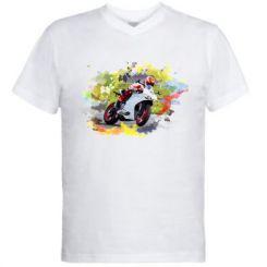 Чоловіча футболка з V-подібним вирізом Ducati Art