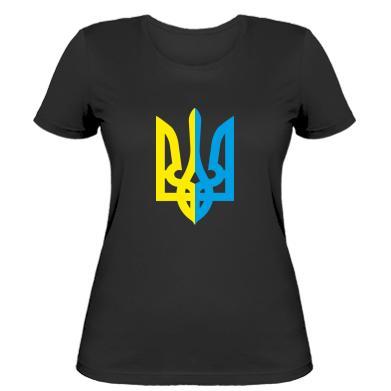 Купити Жіноча футболка Двокольоровий герб України