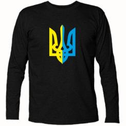 Купити Футболка з довгим рукавом Двокольоровий герб України