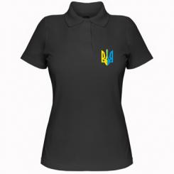 Купити Жіноча футболка поло Двокольоровий герб України