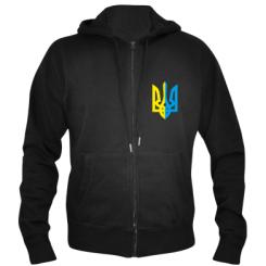 Купити Чоловіча толстовка на блискавці Двокольоровий герб України