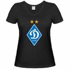 Купити Жіноча футболка з V-подібним вирізом Dynamo Kiev