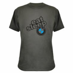 Камуфляжна футболка Eat, sleep, BMW