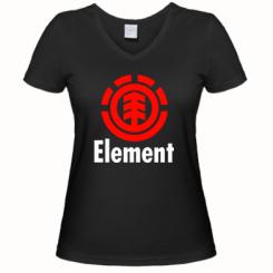 Купити Жіноча футболка з V-подібним вирізом Element