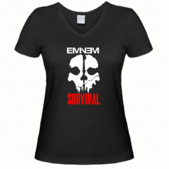 Купити Жіноча футболка з V-подібним вирізом Eminem Survival