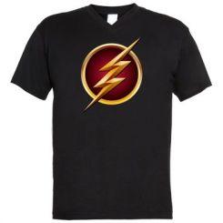 Чоловічі футболки з V-подібним вирізом Flash Logo Art