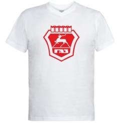 Купити Чоловічі футболки з V-подібним вирізом ГАЗ