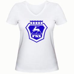 Купити Жіноча футболка з V-подібним вирізом ГАЗ