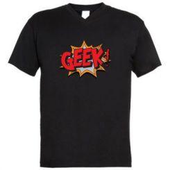 Чоловіча футболка з V-подібним вирізом Geek Booom