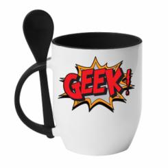 Кружка з керамічною ложкою Geek Booom