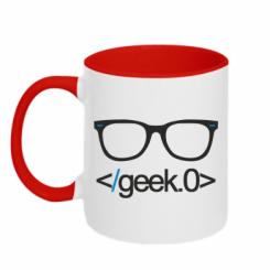 Кружка двокольорова Geek Code