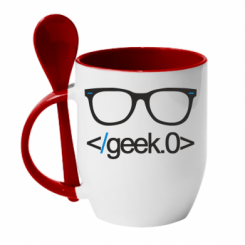 Кружка з керамічною ложкою Geek Code