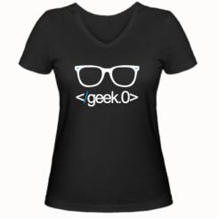 Жіноча футболка з V-подібним вирізом Geek Code