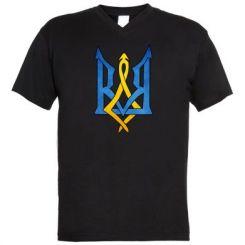 """Купити Чоловічі футболки з V-подібним вирізом Герб """"Арт"""""""