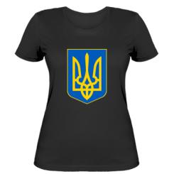 Купити Жіноча футболка Герб неньки-України
